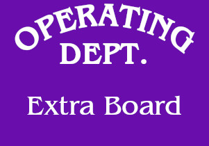 Operating Dept Extra Board