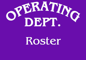 Operating Department Roster
