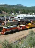 Caboose Train from Hill